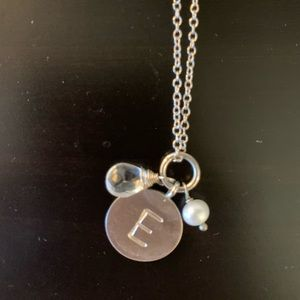 """E"" Initial Silver Necklace"